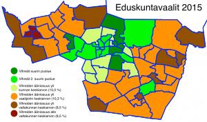 Tampereen äänestysalueet 2